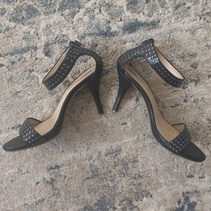 Mossimo | Black Studded Ankle-Strap Heels
